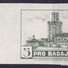 Sellos: WP618 ESPAÑA SPAIN GUERRA CIVIL BADAJOZ S/D PAPEL BLANCO. Lote 104767915
