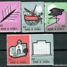 Sellos: VIÑETAS.1958 .PLAYAS DEL VENDRELL .SAN SALVADOR.(TARRAGONA ).**.MNH. Lote 104775663