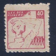 Sellos: VIÑETA LEY DEL PIONERO 40 CTS. MNH **. Lote 106599279