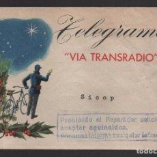 Sellos: TELEGRAMA -VIA TRANSRADIO- COMUNICACIONES MUNDIALES POR RADIO T CABLE, VER FOTO. Lote 104861971