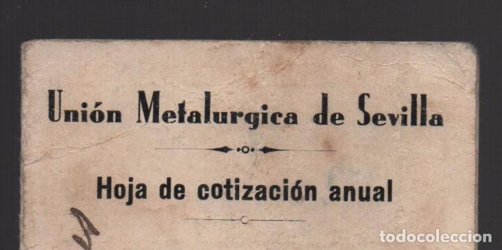Sellos: SEVILLA, 25 CTS, UNION METALURGICA, VARIEDAD, UNION Y METALURGICA UNIDOS, VER FOTO - Foto 3 - 105016255
