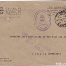 Sellos: F22-21-FALANGE.JEFATURA PROVINCIAL MALAGA. CENSURA 1939. Lote 105044719