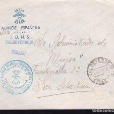 Sellos: F22-25-FALANGE.SECCIÓN FEMENINA. VALDEVERDEJA TOLEDO 1939. Lote 105045511