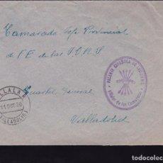 Sellos: F22-37-FALANGE. CARTA VILLALAR DE LOS COMUNEROS AL CUARTEL GENERAL VALLADOLID 1936. Lote 105047971
