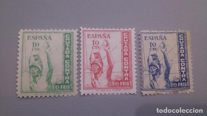 VIÑETAS - SELLOS - GUERRA CIVIL - CRUZADA CONTRA EL FRIO - MNH** - NUEVOS - EJERCITO DEL NORTE. (Sellos - España - Guerra Civil - De 1.936 a 1.939 - Nuevos)
