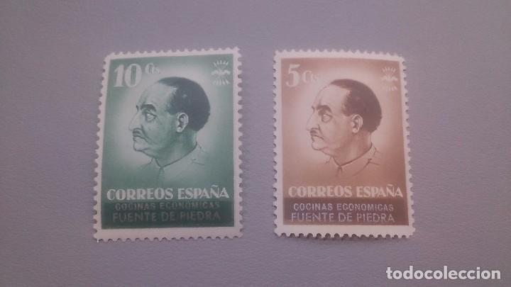 CORREOS ESPAÑA - COCINAS ECONOMICAS - FUENTE DE PIEDRA - COMPLETA - MNH** NUEVOS. (Sellos - España - Guerra Civil - De 1.936 a 1.939 - Nuevos)