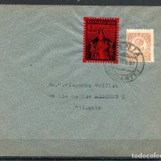 Sellos: SOBRE FILATÉLICO CON LOCAL DE DENIA ALLEPUZ 23, 1937. Lote 105206427