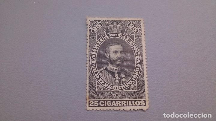 1885 -VIÑETA - FISCAL - TABACOS - MNH** - NUEVA - FABRICA DE VALENCIA - R.D. 17 FEBRERO -1885 - (Sellos - España - Guerra Civil - Viñetas - Nuevos)
