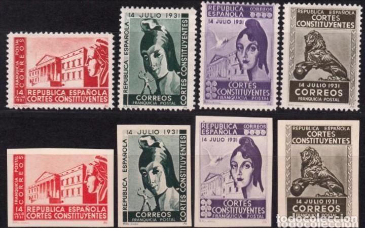 1931 - FRANQUICIAS POSTALES -EDIFIL 19/22 Y 19S/22S - NUEVOS - REPUBLICA - CORTES CONSTITUYENTES - (Sellos - España - Guerra Civil - Viñetas - Nuevos)