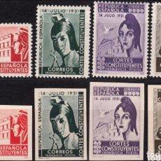 Sellos: 1931 - FRANQUICIAS POSTALES -EDIFIL 19/22 Y 19S/22S - NUEVOS - REPUBLICA - CORTES CONSTITUYENTES -. Lote 105377143
