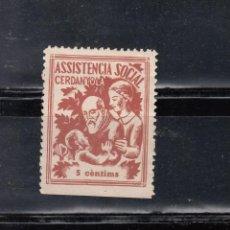 Sellos: CERDANYOLA. ASSISTENCIA SOCIAL. 5 CTS.. Lote 105651287