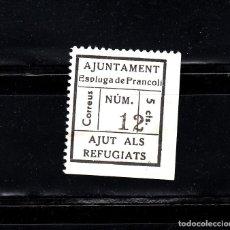 Sellos: AJUNTAMENT DE ESPLUGAS DE FRANCOLI. AJUT ALS REFUGIATS. 5 CTS.. Lote 105651647