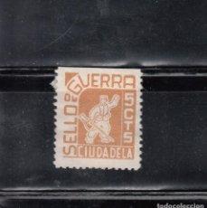 Sellos: CIUDADELA. SELLO DE GUERRA. 5 CTS.. Lote 105651787