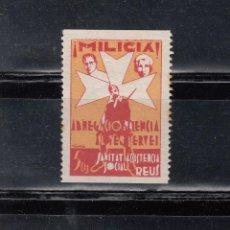 Sellos: REUS. MILICIA. ASSISTENCIA SOCIAL. 5 CTS.. Lote 105652215