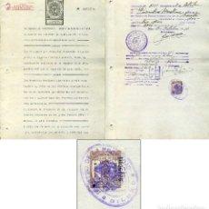 Sellos: 1934 FISCAL DIPUTACION VIZCAYA CLASE 9, SOBRE DOCUMENTO PAPEL SELLADO. Lote 105717007