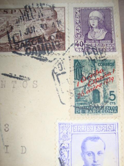 Sellos: GUERRA CIVIL, SOBRE CON CENSURA MILITAR DE BARCELONA 1939 - Foto 2 - 34463292