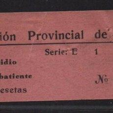 Sellos: SEVILLA, 1 PTA, - SUBSIDIO AL COMBATIENTE- N/C. VER ALLEPUZ Nº 131. VER FOTO. Lote 105946167