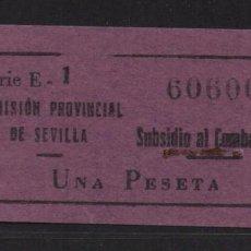 Francobolli: SEVILLA, 1 PTA, LILA,- SUBSIDIO AL COMBATIENTE- Nº PEQUEÑA, ALLEPUZ Nº 140. VER FOTO. Lote 105947267
