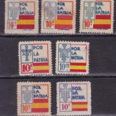 Sellos: DD26-GUERRA CIVIL. LOCALES .VARIOS TIPOS 7 SELLOS. Lote 105950759