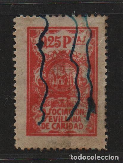 SEVILLA, 25 CTS. -SEVILLANA DE CARIDAD-, ALLEPUZ Nº 96. VER FOTO (Sellos - España - Guerra Civil - De 1.936 a 1.939 - Nuevos)