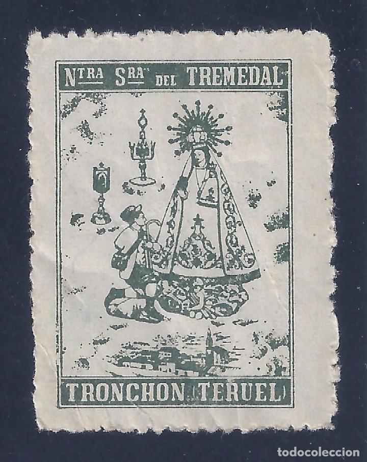 VIÑETA NUESTRA SEÑORA DEL TREMEDAL. TRONCHÓN (TERUEL). MUY ESCASA. MNH ** (Sellos - España - Guerra Civil - Viñetas - Nuevos)