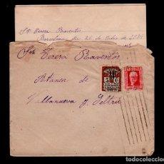 Sellos: C10-10-12 GUERRA CIVIL HISTORIA POSTAL CARTA CIRCULADA EL 25 DE JULIO DE 1934, DE BARCELONA A VILLAN. Lote 106831379