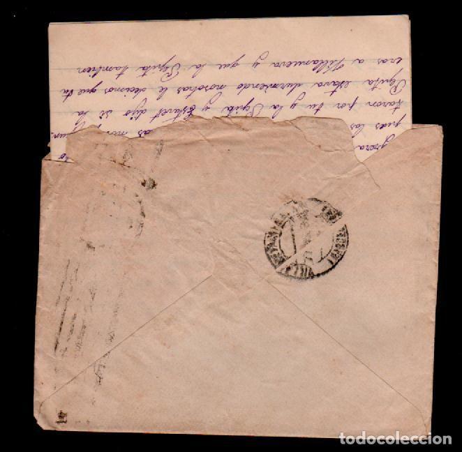 Sellos: C10-10-12 Guerra Civil Historia Postal carta circulada el 25 de Julio de 1934, de BARCELONA a VILLAN - Foto 2 - 106831379