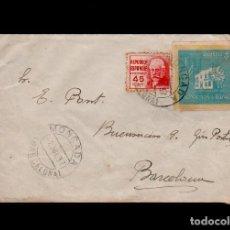 Timbres: C10-10-14 GUERRA CIVIL HISTORIA POSTAL CARTA CIRCULADA EL 2 DE JULIO DE 1937, DE MONCADA I REIXAC (B. Lote 106831847
