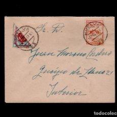 Timbres: C10-10-21 GUERRA CIVIL HISTORIA POSTAL CARTA CIRCULADA EN HUELVA EL 3 DE FEBRERO DE 1937 CON SELLO F. Lote 106833947
