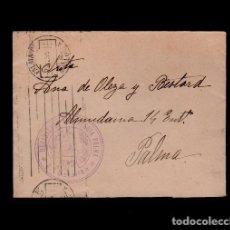 C10-10-24 Guerra Civil Historia Postal carta circulada con sello de FRANQUICIA del Regimiento de ART