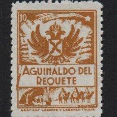 Sellos: AGUINALDO DEL REQUETE, 10 CTS, NARANJA, DENTADO, VER FOTO. Lote 106912175
