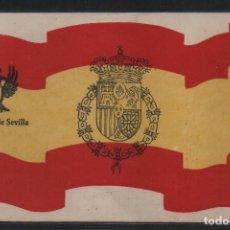 Sellos: REQUETE DE SEVILLA, CIRCULADA, POSTAL PATRIOTICA, SELLO AUXILIO DESVALIDO, VER FOTO. Lote 107256467