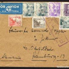 Sellos: ESPAÑA 1939 SOBRE - CENSURA MILITAR MADRID AL DORSO DESDE MADRID A HAMBURGO (ALEMANIA), CON CENSURA. Lote 107425118
