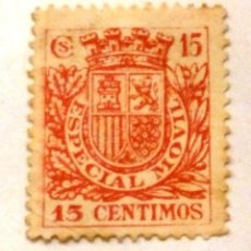 TIMBRE ESPECIAL MOVIL. 15 CENTIMOS. CON CHARNELA.