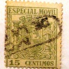 Francobolli: TIMBRE ESPECIAL MOVIL. 15 CENTIMOS. USADO CON CHARNELA.. Lote 107452271
