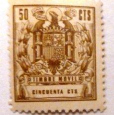 Sellos: TIMBRE MOVIL 50 CENTIMOS. NUEVO CON MARCA DE CHARNELA. Lote 107453067