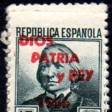 Sellos: ESPAÑA.- EMISIÓN LOCAL PATRIÓTICA.- DIOS, PATRIA Y REY, EN NUEVO. Lote 113982891