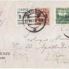 Sellos: SOBRE REALMENTE CIRCULADO CON SELLOS PATRIÓTICOS DE VITORIA. PAÍS VASCO A VIGO. DORSO LLEGADA. 1937. Lote 107729539