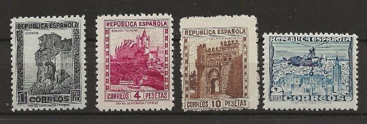 R26.G15 / MONUMENTOS Y AUTOGIRO, EDF.770/71/75 Y 769, NUEVOS ** CON GOMA Y SIN CHARNELA (Sellos - España - Guerra Civil - De 1.936 a 1.939 - Nuevos)