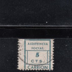 Sellos: CARRION. ASISTENCIA SOCIAL. 5 CTS.. Lote 108090135