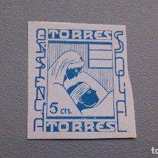 Sellos: VIÑETA - ASISTENCIA SOCIAL - TORRES - MNG - NUEVO - 5 CTS.. Lote 108463623