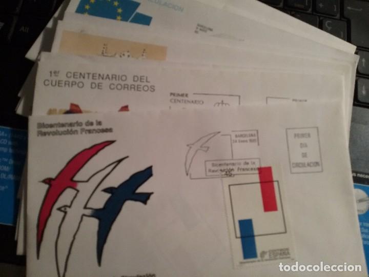 LOTE 9 SOBRE/CARTA PRIMER DIA DE CIRCULACION 1989 (Sellos - España - Guerra Civil - De 1.936 a 1.939 - Cartas)