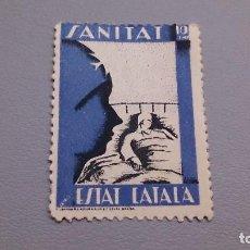 Sellos: VIÑETA - GUERRA CIVIL - 1937 - ESTAT CATALA - SANITAT -MNH** - NUEVO - SIN FIJASELLOS.. Lote 108884475