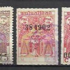 Sellos: 5917-COLECCION SELLOS ANTIGUOS FISCALES MUTUALIDAD JUDICIAL SIN REPETIDOS,ALTO VALOR,DIFERENTES.SPAI. Lote 108906231