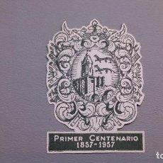 Sellos: VIÑETA - RARA VIÑETA - ESCUDO DE BILBAO - PRIMER CENTENARIO - 1857-1957 - MH* - NUEVA - EN RELIEVE.. Lote 109054087