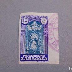 Sellos: VIÑETA - PRO-SEMINARIO - ZARAGOZA - SIN DENTAR - CIRCULADA.. Lote 109054723