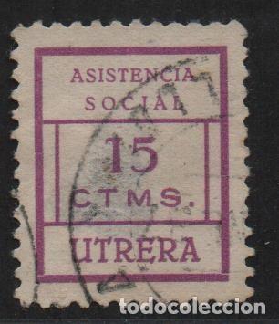 UTRERA, SEVILLA, 5 CTS, -ASISTENCIA SOCIAL- ALLEPUZ Nº 3. VER FOTO (Sellos - España - Guerra Civil - De 1.936 a 1.939 - Usados)