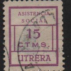 Sellos: UTRERA, SEVILLA, 5 CTS, -ASISTENCIA SOCIAL- ALLEPUZ Nº 3. VER FOTO. Lote 109080447