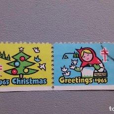 Sellos: VIÑETA - CHRISTMAS - GREETINGS - 1965. Lote 109088287