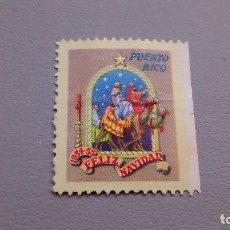 Francobolli: VIÑETA - FELIZ NAVIDAD - 1954-55 -MH* - NUEVA - PUERTO RICO.. Lote 109090747